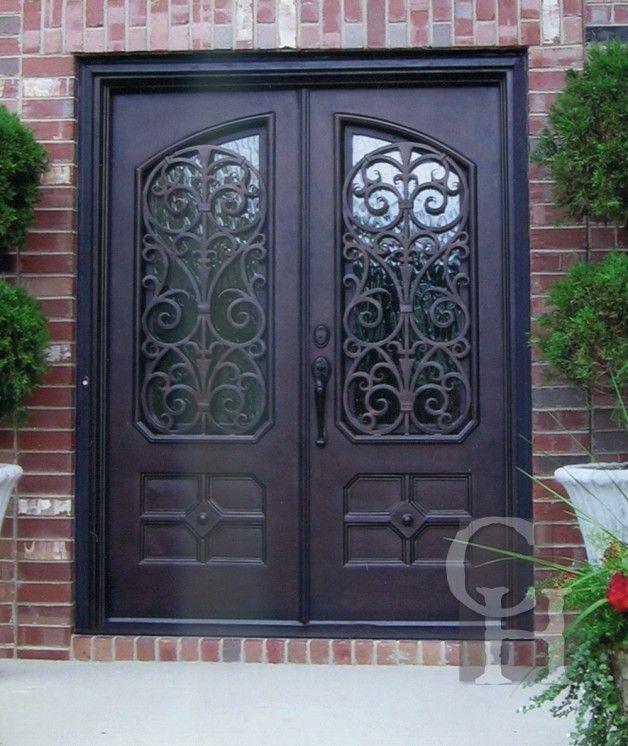 Ornate Iron Double Door Clark Hall Doors Charlotte Nc Wrought
