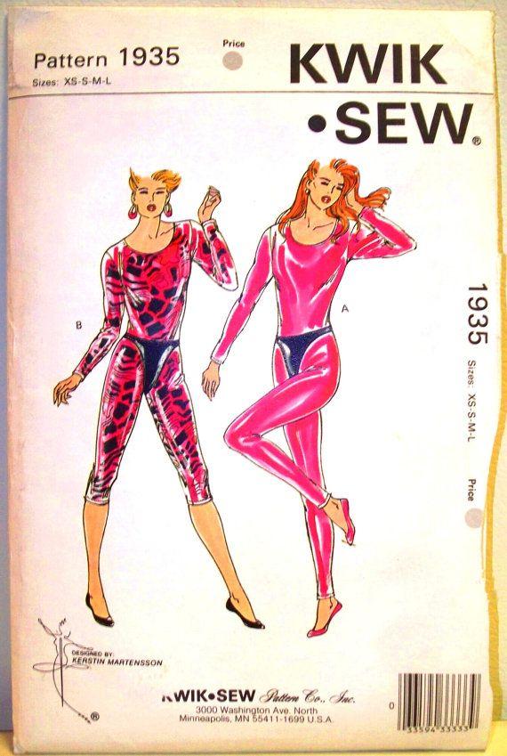 kwik sew pattern 1935 - misses unitards and thong - (1989) - UNCUT