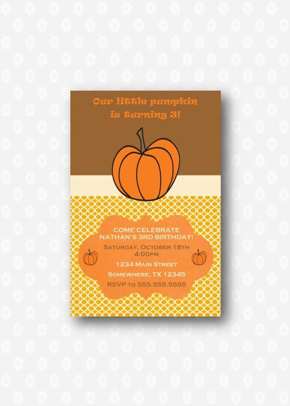 Our little pumpkin fall birthday by CherryDigitalDesign on Etsy