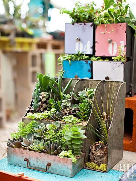14 Upcycled Succulent Containers from Thrift Store and Salvaged Finds is part of Succulents in containers, Succulents garden, Succulents, Upcycle garden, Planters, Upcycled planter - Succulents deserve vessels that match their interesting charm