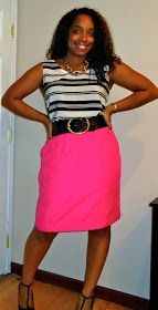 Style & Poise: Corporate Chic: Pink Pencil Skirt
