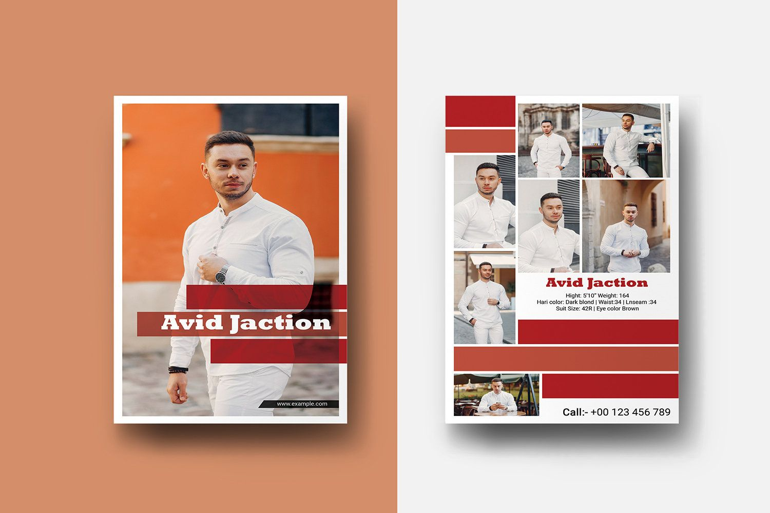 Modeling Comp Card Template Fashion Model Comp Card Modeling Etsy Model Comp Card Word Template Card Template