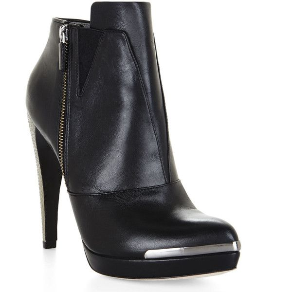 Herve Leger Mercer Bootie (2 455 SEK) ❤ liked on Polyvore featuring shoes, boots, ankle booties, black, black platform boots, black platform bootie, black boots, black stilettos and black booties