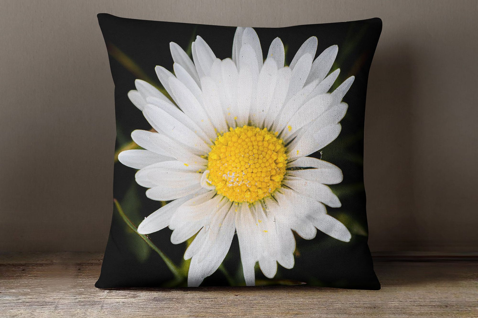 Daisy Decorative Pillow Throw Pillow Covers Floral Pillow Etsy In 2021 Daisy Pillows Floral Pillows Pillow Covers