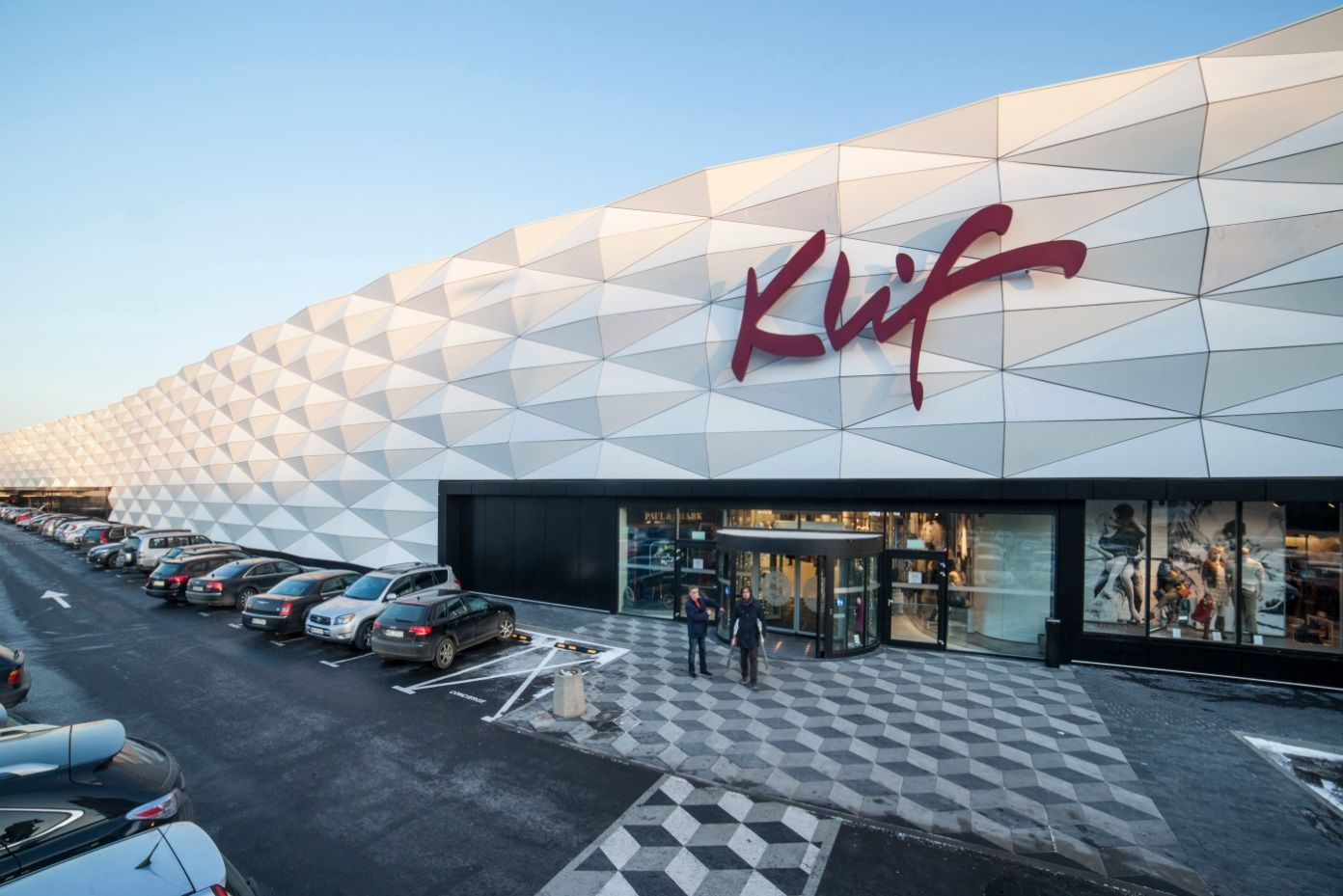 Beautiful Corian® Cladding solution for a shopping center. Design by: Architect Grupa 5 http://casf.com.au/corian-gallery/commercial/