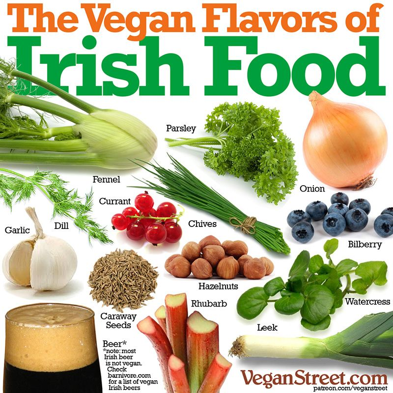 What makes vegan Irish food so delicious? Here are some big reasons why. Note: this list doesn't include Ireland's most famous vegetable, the potato. We don't consider potatoes to be much of a flavor. They're more of a base that tastes great because of all these other flavors. Happy St. Patrick's Day!  http://veganstreet.com/dailymeme-3-17-17.html