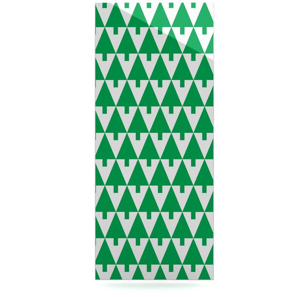 "Gabriela Fuente ""Happy X-Mas Green"" Illustration Geometric Luxe Rectangle Panel"