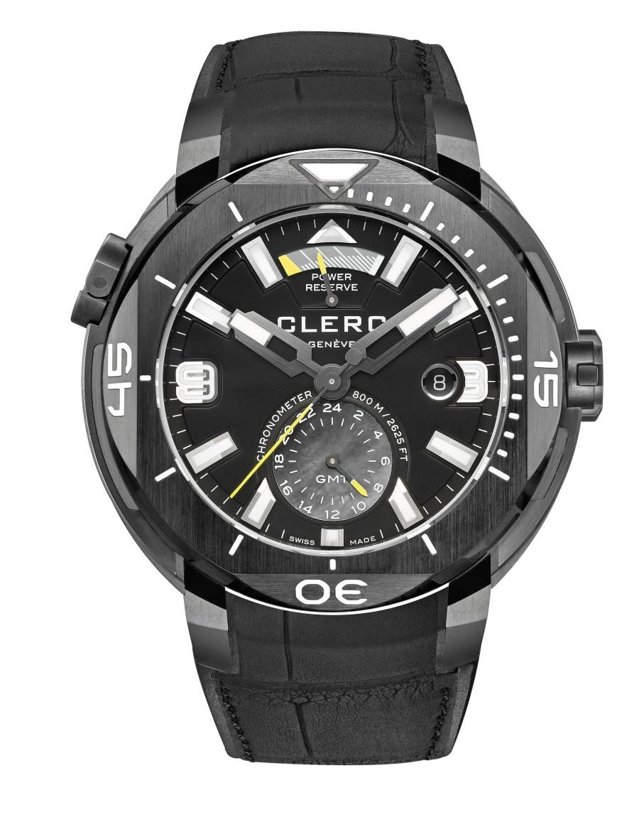 TimeZone : Industry News » Pre-Basel 2016 - Clerc Hydroscaph GMT Power Reserve Chronometer
