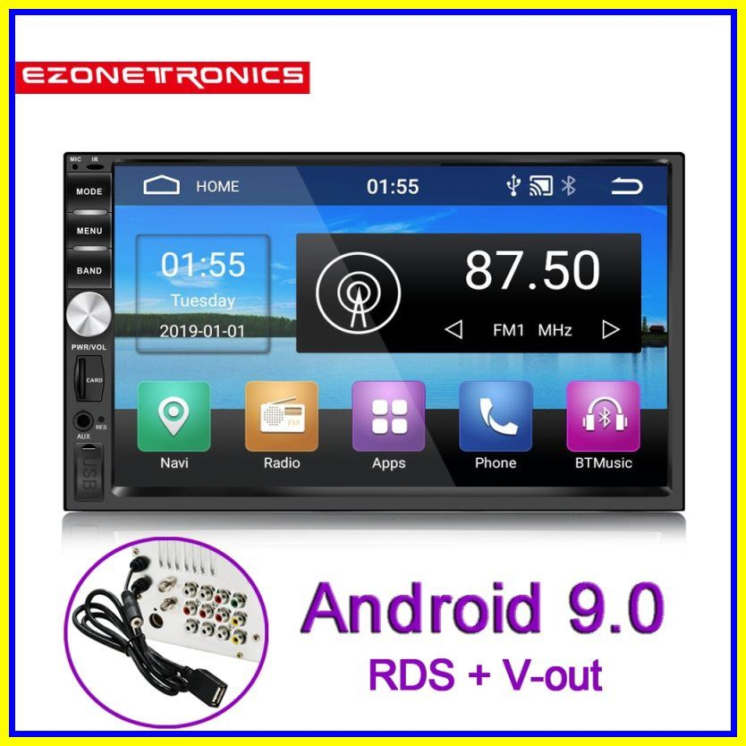 Sale New 7inch Android 9 0 Universal Obd2 Double 2din Car Radio Audio Stereo Gps Bt Navigation Kits Car Multimedia Rds Swc No Dvd Fm Radio Car Radio Android 9