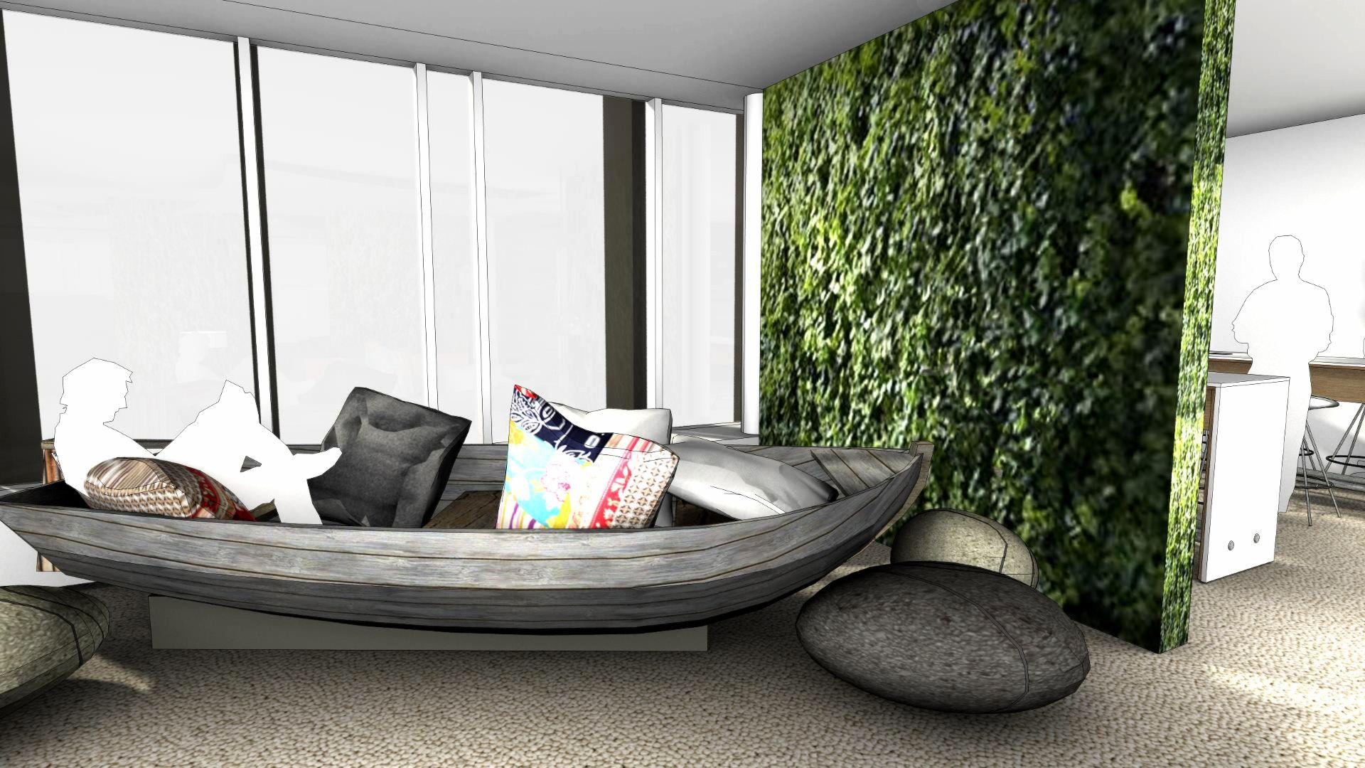 Büro Einrichten: Eine Ganz Andere Arbeitsumgebung Kann Innovative Ideen  Hervorbringen. Ein Boot Im Open