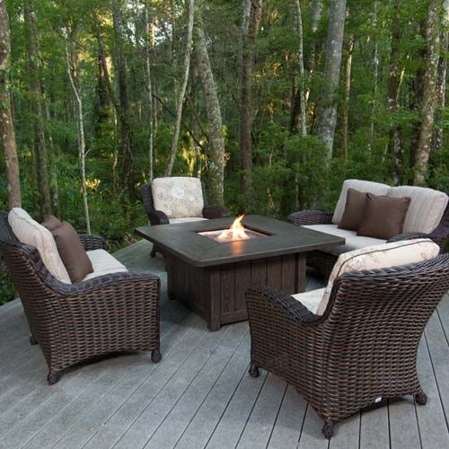 Ebel Druex Collection Outdoor Living Decor Patio Fire Pit