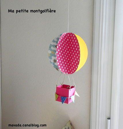 mobile montgolfi re en papier mobiles pinterest montgolfi re activit et activit manuelle. Black Bedroom Furniture Sets. Home Design Ideas