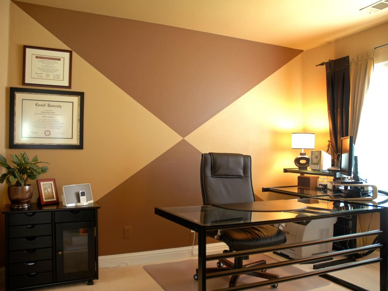 Simple Hot Chocolate Three Ways Office Designs Minimalist And - Bold painted accent walls