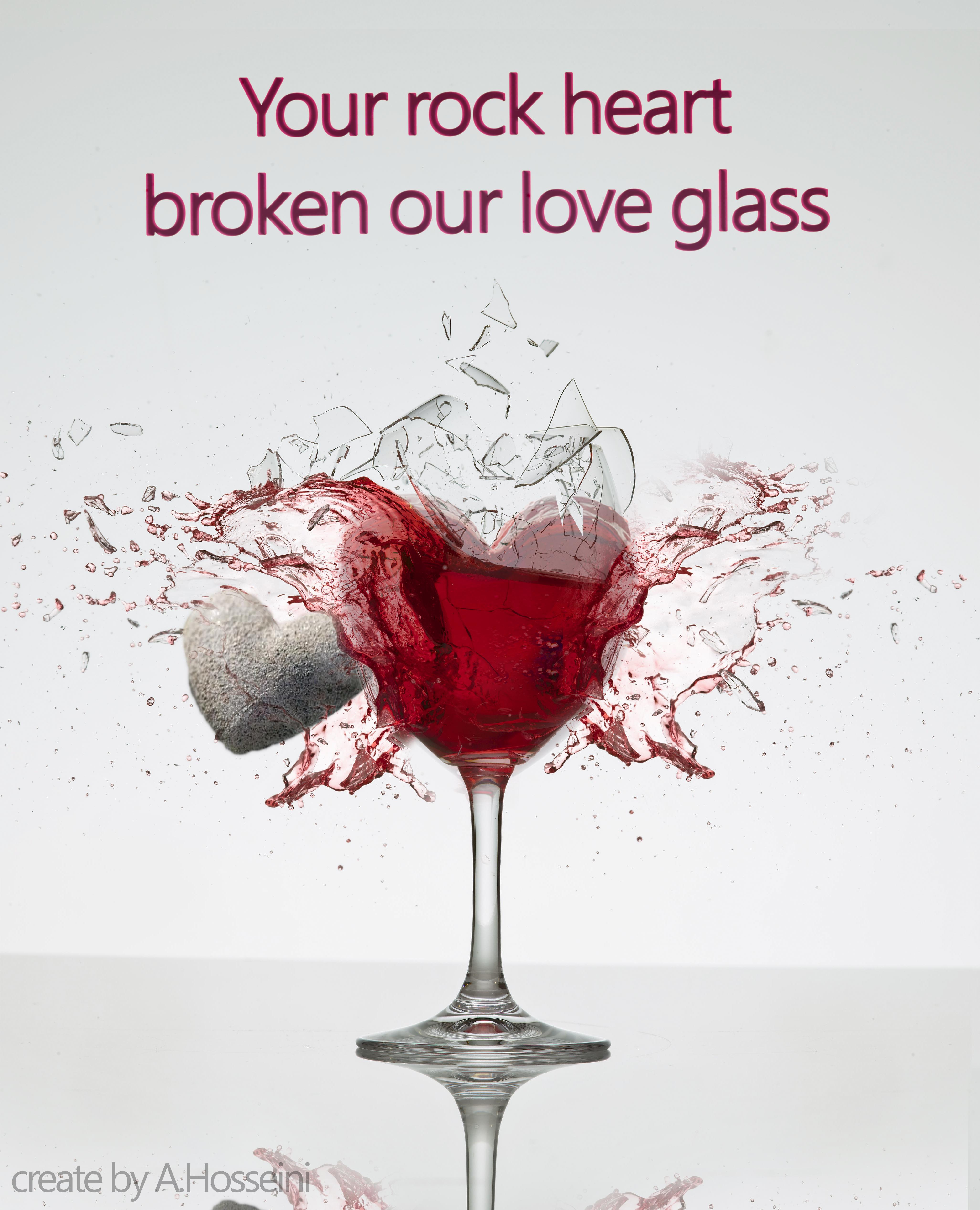 Broken Heart Glass Photoshop Art Broken Heart