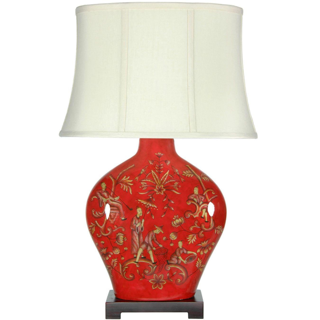 27 Fruitful Harvest Porcelain Lamp Orientalfurniture Com