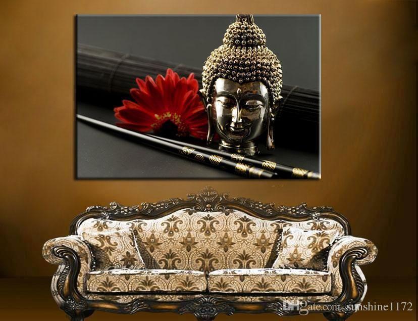 2016 Unframed Prints Painting Single Canvas Buddha Wall Art Decor Large Painting Living Room Buddha Wall Art Buddha Wall Art Decor Large Paintings Living Room