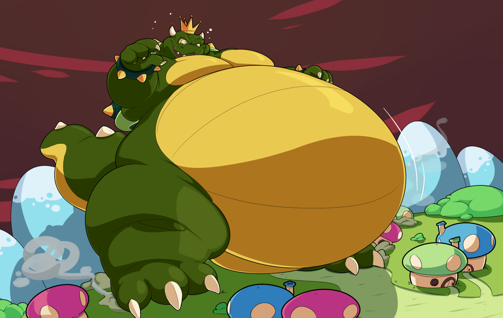 Trouble in Toadtown - by Hojpoj4 / Fat Bowser King Koopa   Mario ...