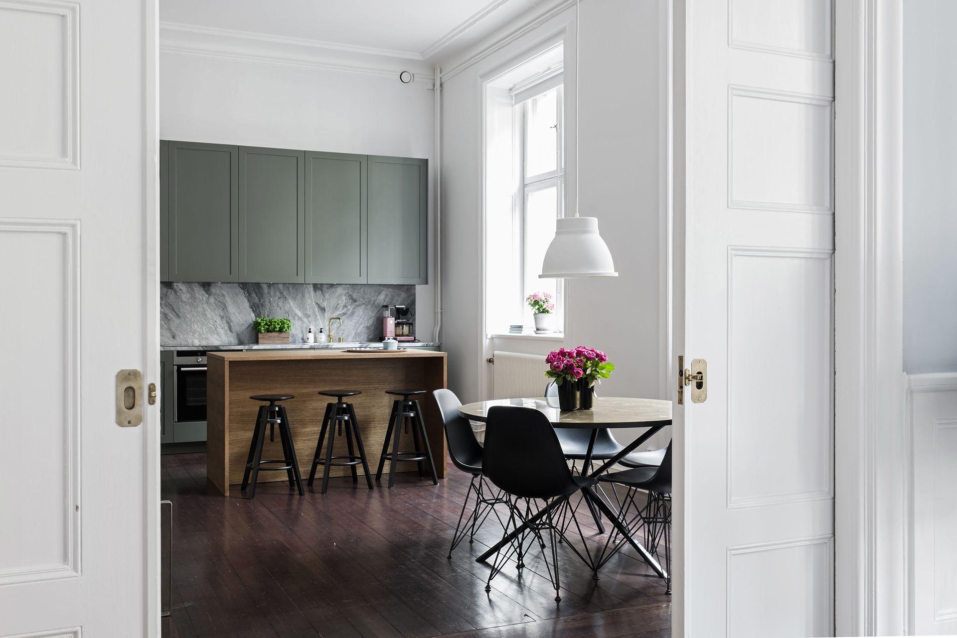 Minimal Scandinavian Kitchen Sage Green Marble Decor Green Kitchen Walls Home Decor Marble Decor