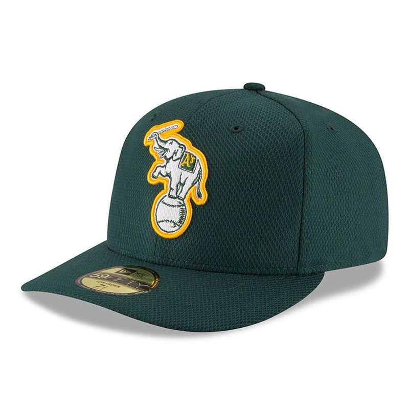 eec19cf40a695 Oakland Athletics New Era Diamond Era Low Profile 59FIFTY Fitted Hat - Green
