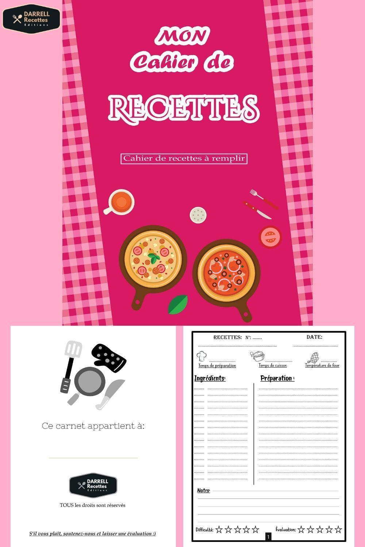 100 recettes carnet de recette