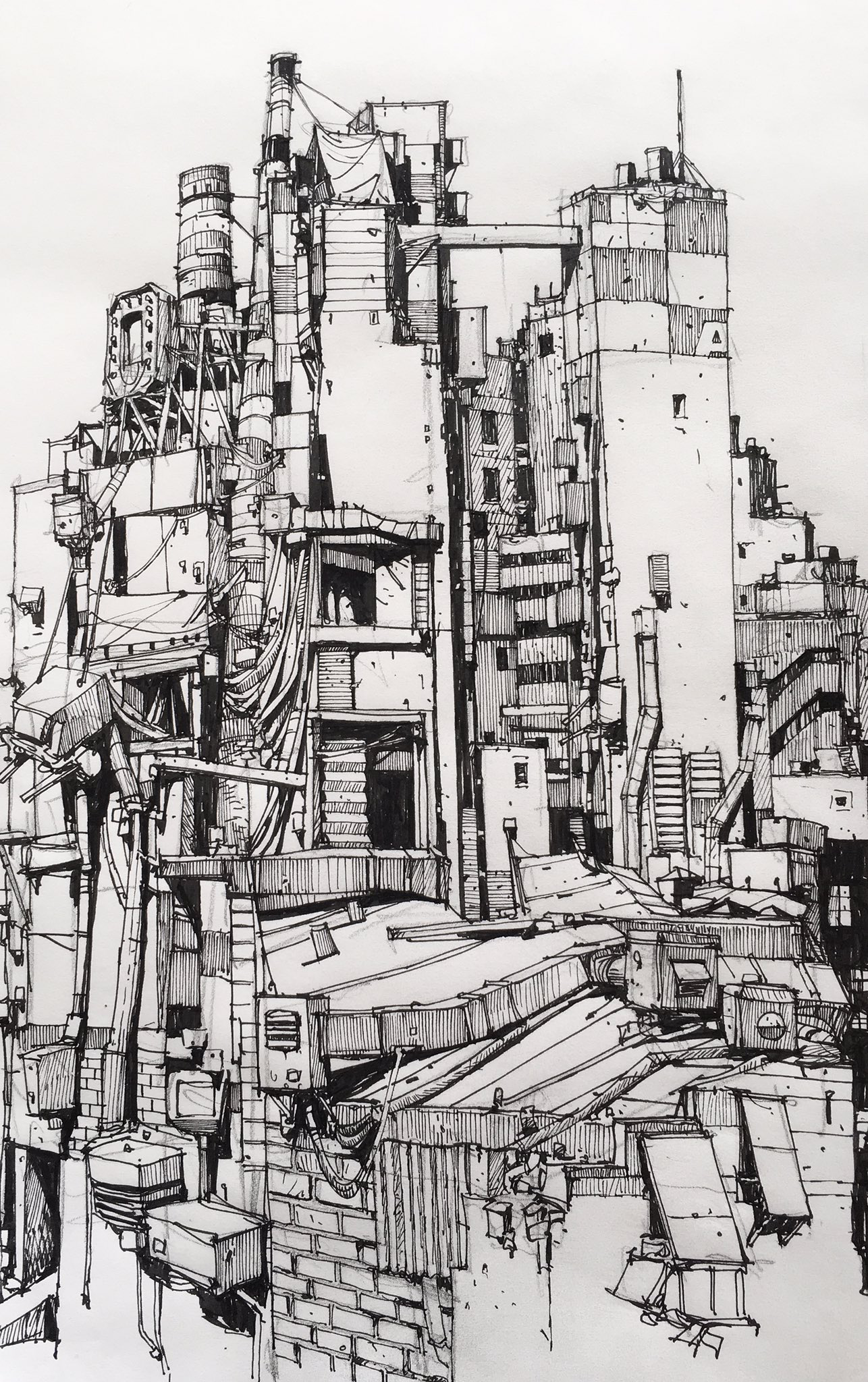 City Buildings Drawing at GetDrawings | Free download |City Building Sketches