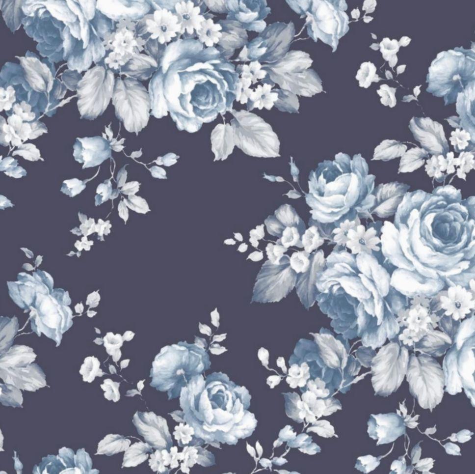 Wallpaper Blue Navy Wallpapers Dark Iphone Lion Floral Wallpaper Toile Wallpaper Norwall