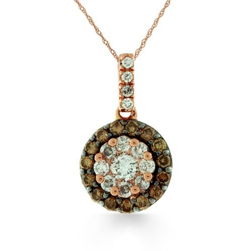 Shop online Arthurs Collection PDR-13414 Rose Gold DIAMOND Necklaces  at Arthur's Jewelers. Free Shipping