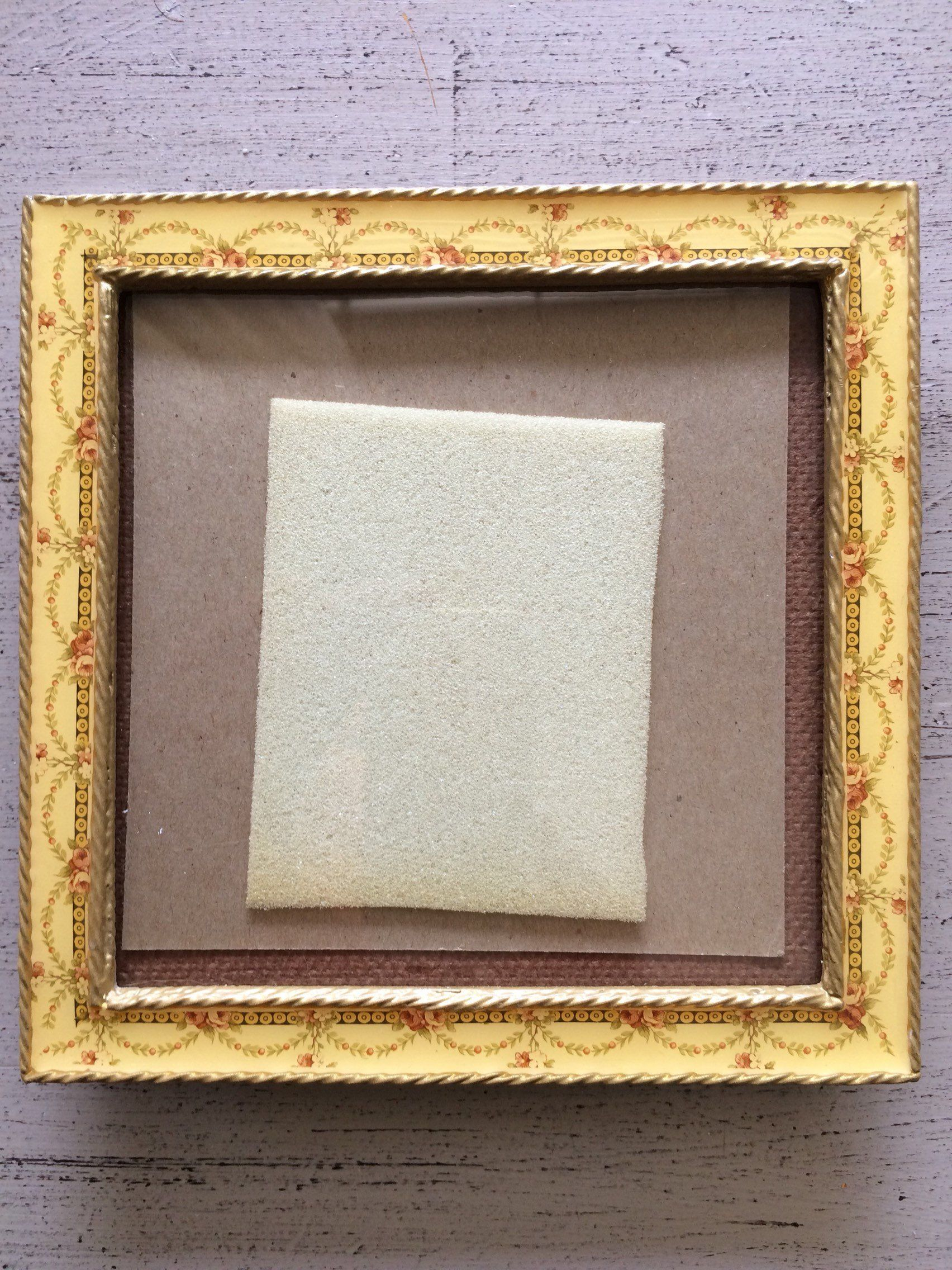 Vintage Enamel Metal Photo Frame Enameled Picture Frame Square 6 X 6