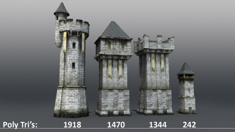 Medieval Castle Towers Wall 3d Model Watch Tower Architecture Minecraft Castle Walls Medieval Castle