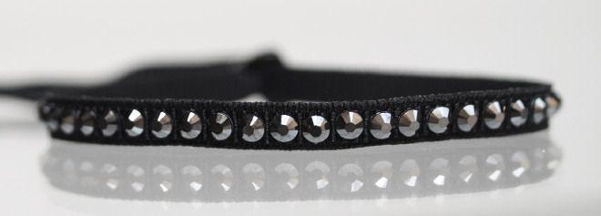 Braccialetto cannetè elastico strass