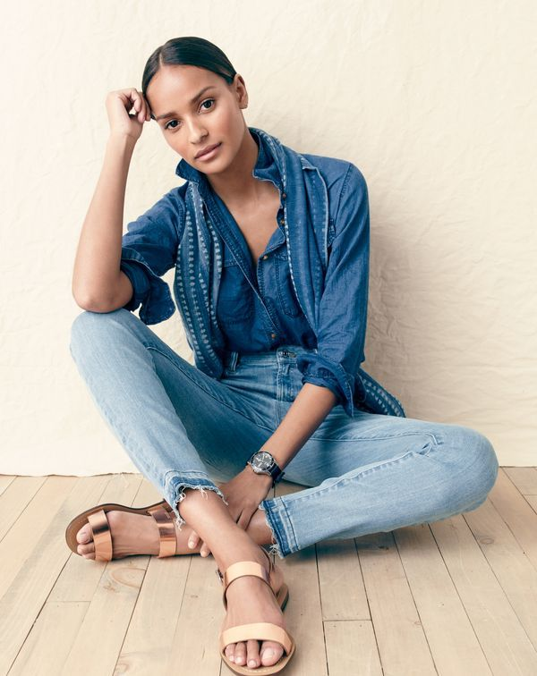 J.Crew summer vibes. Uncomplicated, unfussy and just a little undone.