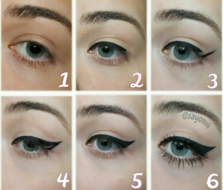 how to apply the perfect eyeliner shape all dolled up pinterest. Black Bedroom Furniture Sets. Home Design Ideas