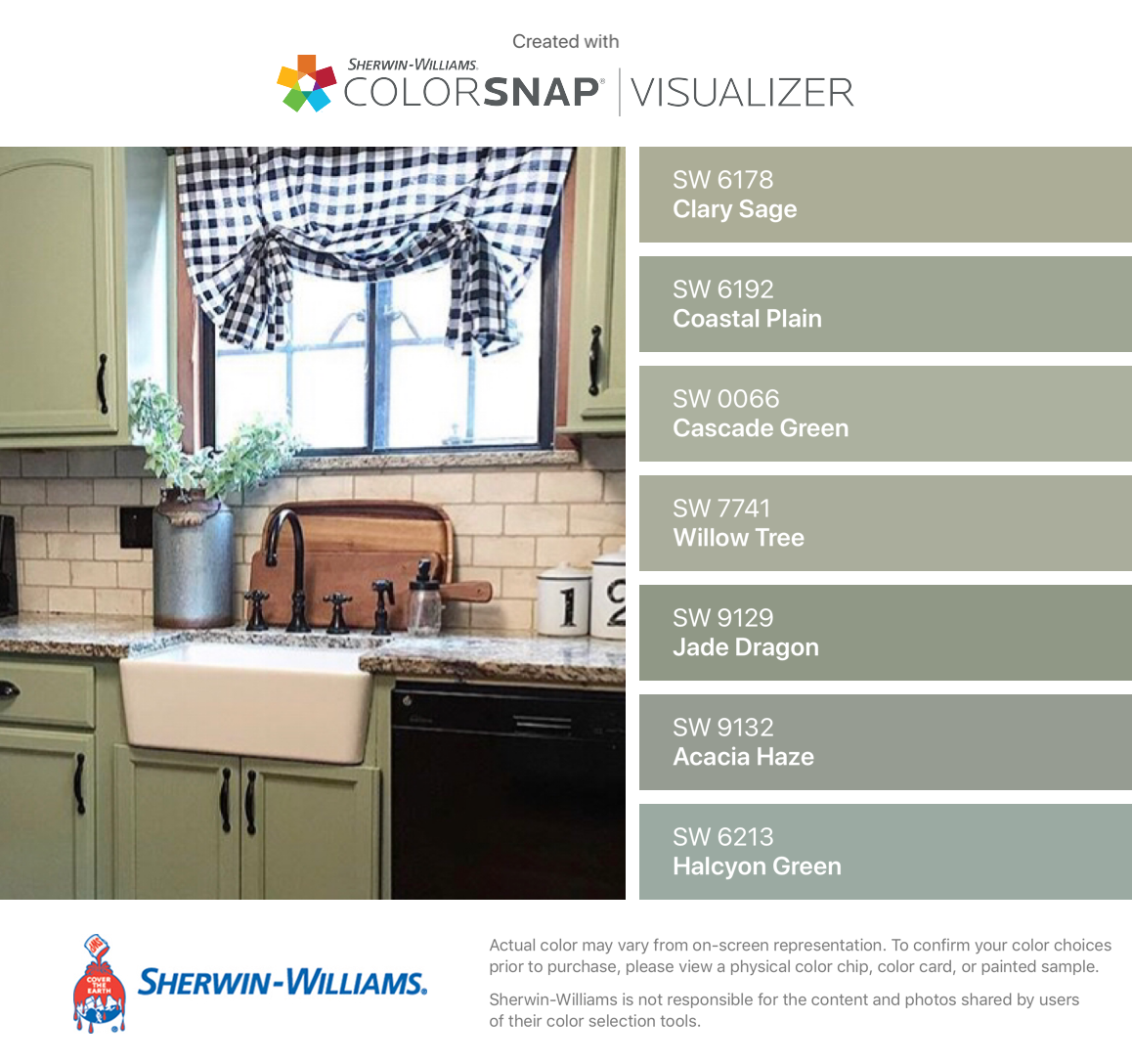 I Found These Colors With Colorsnap Visualizer For Iphone By Sherwin Williams Cla Sage Green Paint Color Sherwin Williams Paint Colors Green Sage Green Paint