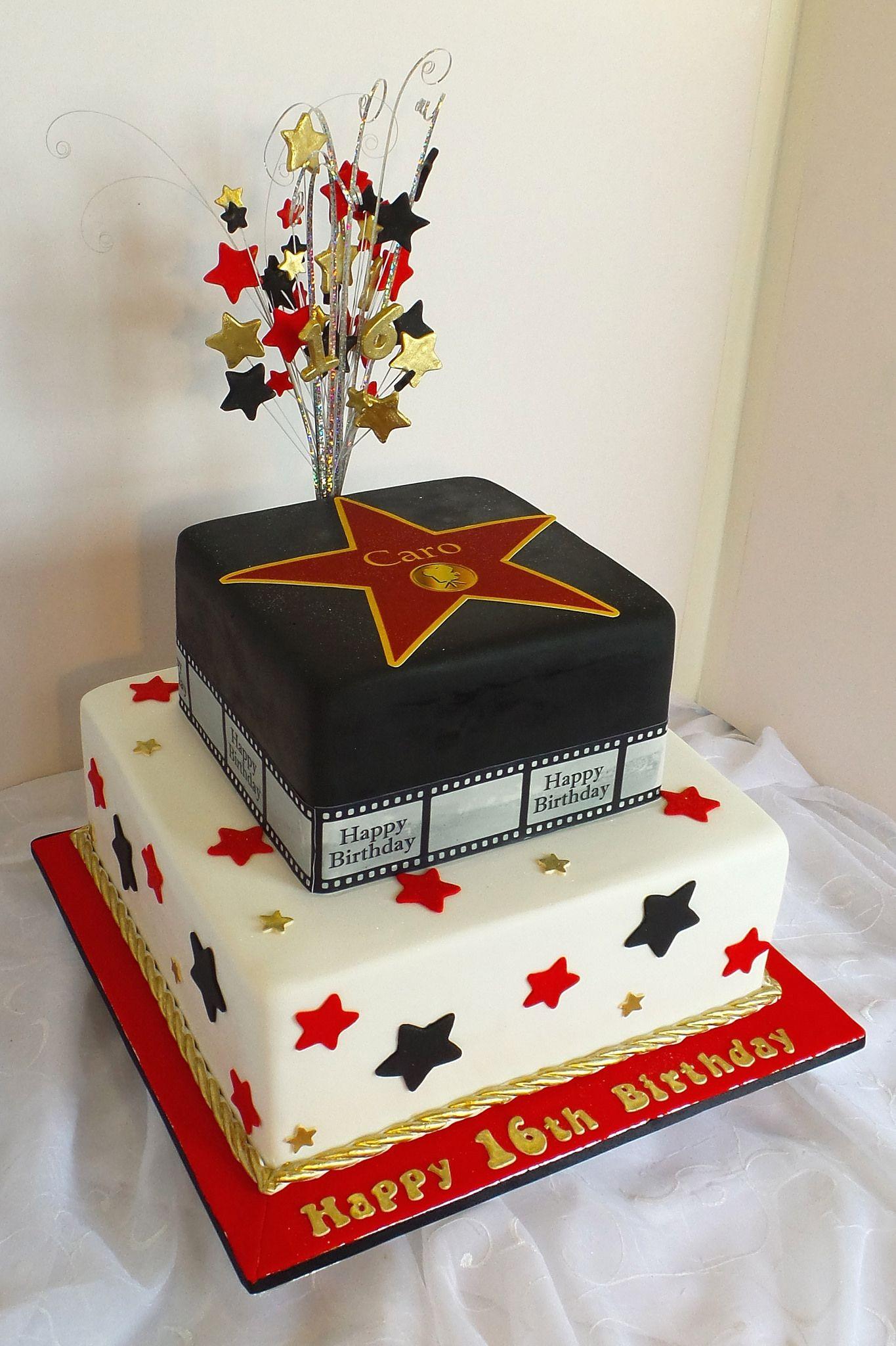 Magnificent Hollywood Star Themed 21St Birthday Cake Hollywood Birthday Funny Birthday Cards Online Elaedamsfinfo