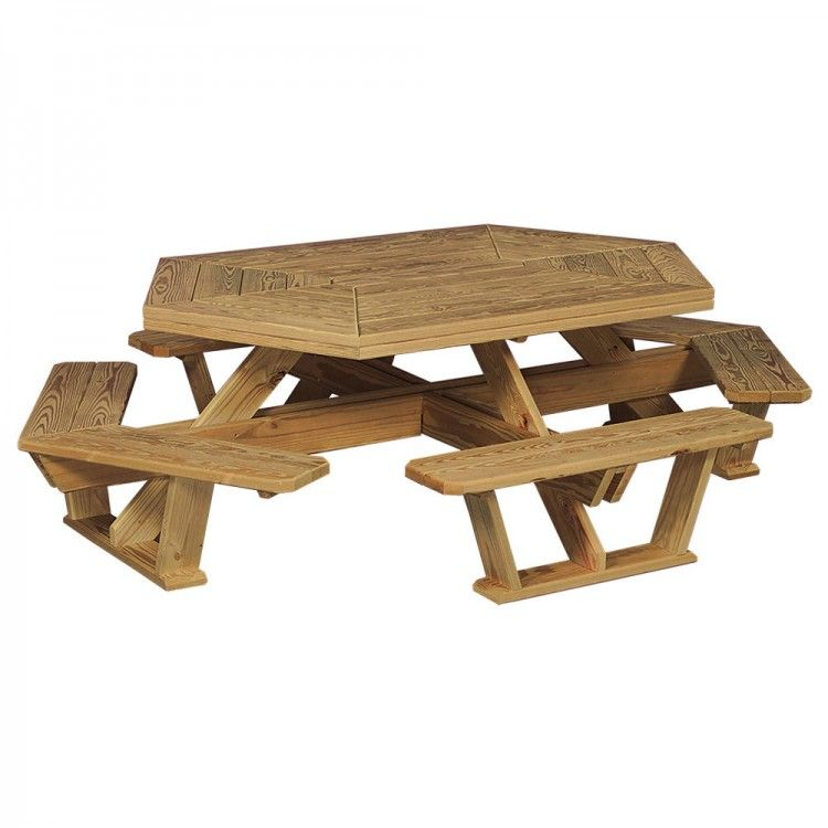 Pattern For Hexagon Picnic Table Home Amish Pine Hexagon