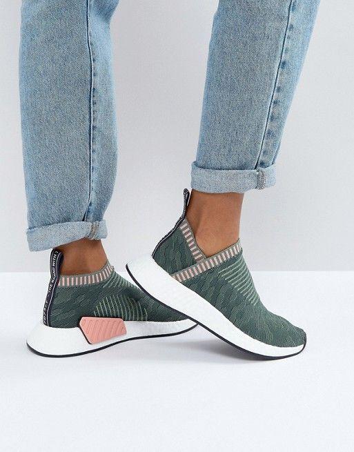 7c4c9e29a adidas Originals NMD Cs2 Sneakers In Khaki Slip On Sneakers