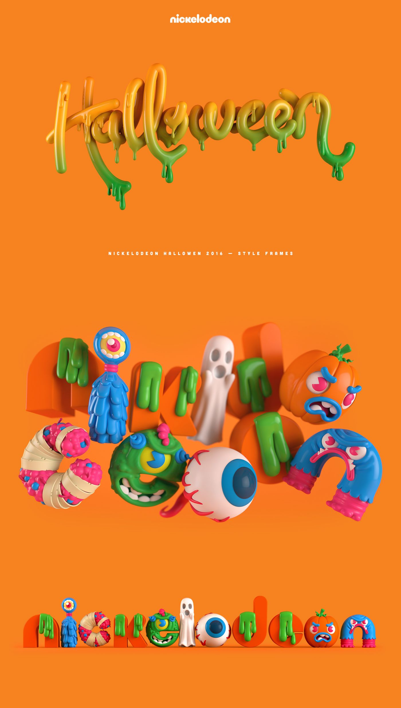Nick Halloween on Behance Halloween typography