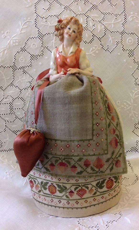 Armonie: Monica - An Italian Capodimonte Pincushion doll by Giulia Punti Antichi