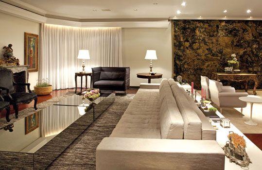 decorao para salas grandes modelos