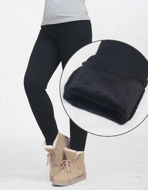fd9ea5541049ec Women Plus Size Fur Lined Legging Warm Tight Winter Pants | Winter ...