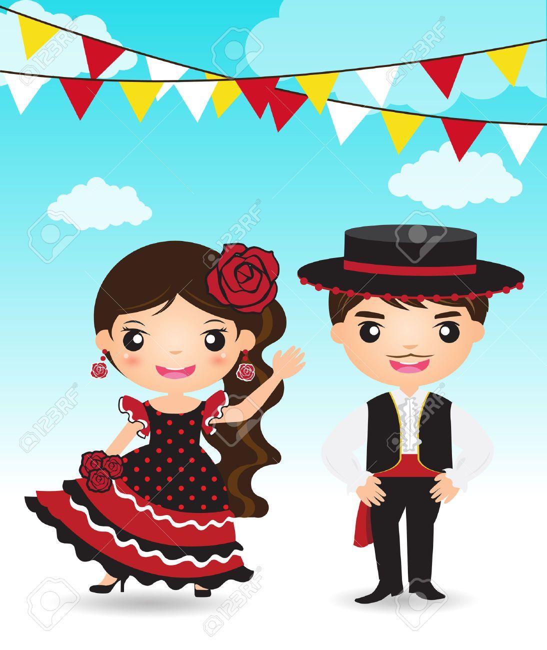 caricatura parejas con trajes tipicos - Buscar con Google ... e8b02ae253b
