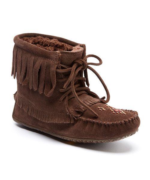 Manitobah Mukluks Harvester Suede Moccasin Genuine Sheepskin Footbed Boot 8vMteg