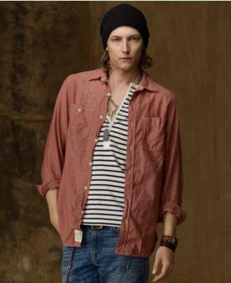 Denim & Supply Ralph Lauren Shirt, Chambray - Mens Casual Shirts - Macy's