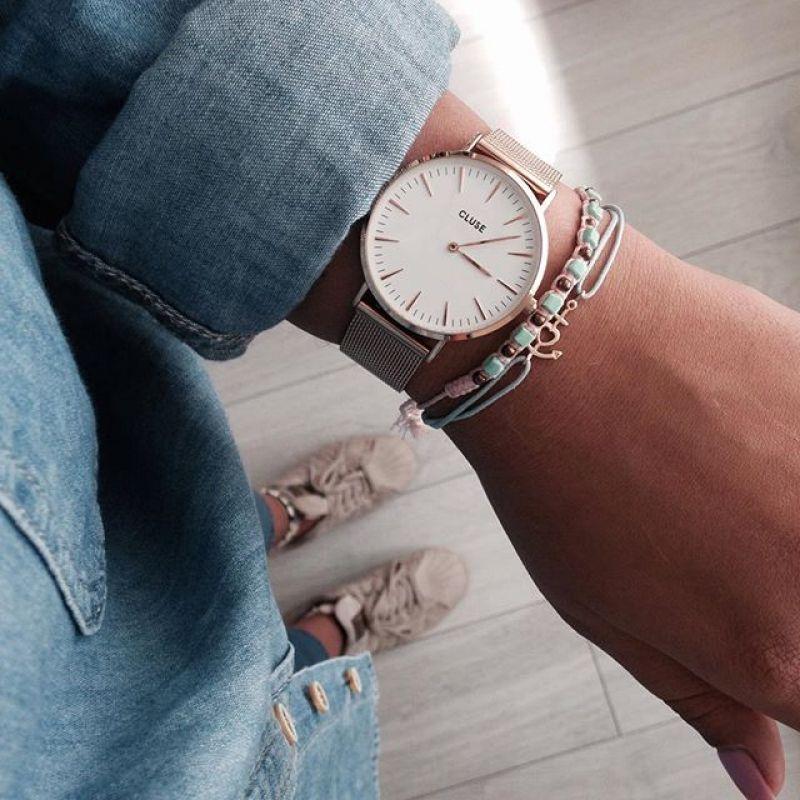 Damenuhren cluse  La Bohème Mesh Rose Gold/White | Cluse damenuhr, Damenuhren und Uhren