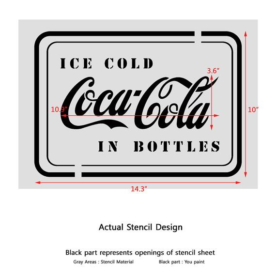 CocaCola in Bottles Stencil Template for Crafting Wall graffiti art ...