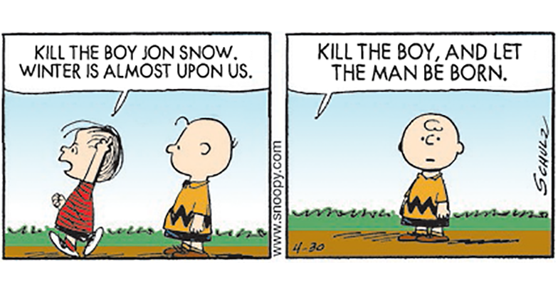 If Game of Thrones was a Peanuts Cartoon