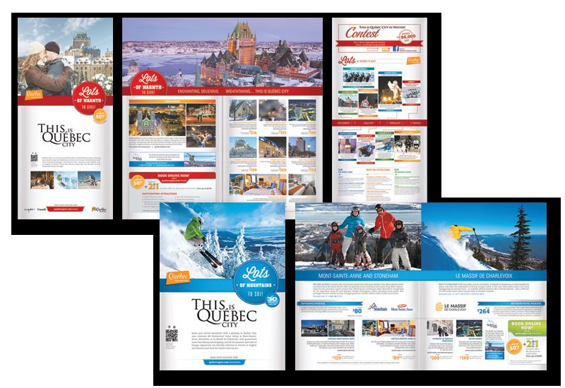 Mise en page de brochures client office du tourisme de qu bec infographiste pigiste pour - Office de tourisme quebec ...