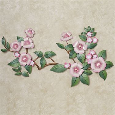 Oriental Splendor Floral Metal Wall Sculpture