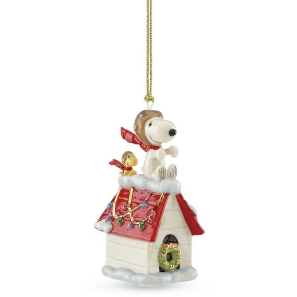 Lenox Snoopy The Flying Ace Ornament ($30) ❤ liked on Polyvore ...