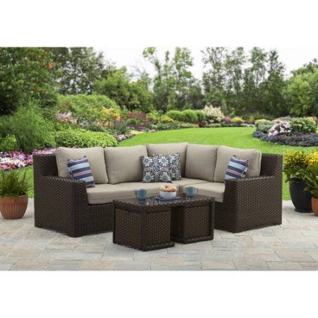 Better Homes And Gardens Weston Pointe 7pc Sectional Set Walmart Com Outdoor Patio Furniture Sets Outdoor Furniture Sets Better Homes And Gardens